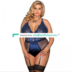 Hot sale nude full size fat women sexy mature teddy lingerie