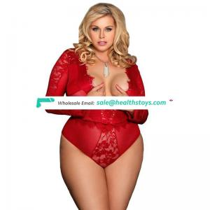 Hot sell  latest design sexy plus size lingerie teddy
