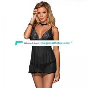 Hot sell black sex hot lingerie babydoll