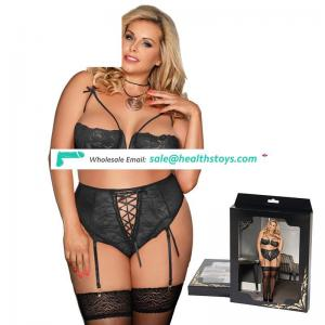 Hot sell plus size bra and panty lingerie set