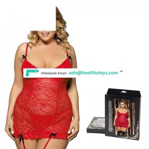 Hot sell plus size chemise with garter