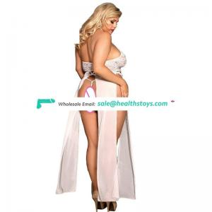 Hot sell white elegant lady sexy night gown