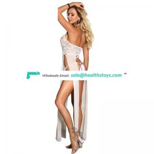 Hot sell white sexy gown nightgown