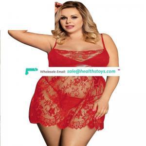 Hot selling  Plus size Eyelash Trim Lace  lady sexy babydoll lingerie