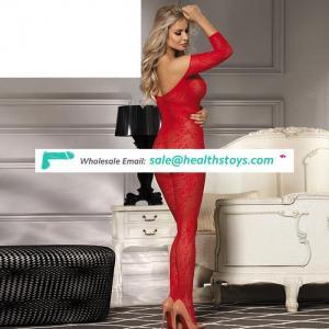 Hot selling cheap romantic Asian red women full body stocking