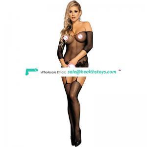 Hot sexy adult fishnet bodystocking women nude bodystocking