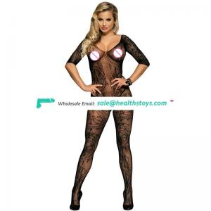 Hottest sale sexy design open crotch bodystocking lingerie