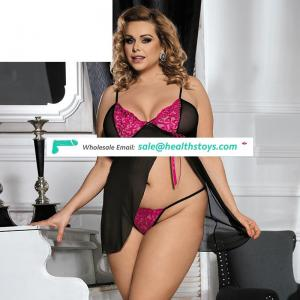 In Stock China Factory Sexy Plus Size Lingerie Babydoll