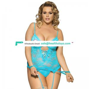 In Stock Lace  Plus Size Sexy Teddy Fat Women Lingerie