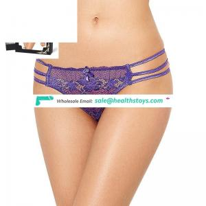 In Stock Three Color Purple Sexy Strappy Crotchless Panties