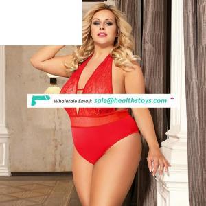 In stock plump women sexy bodysuit plus size lingerie