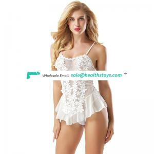 In stock wholesale fashion white lady lingerie babydoll