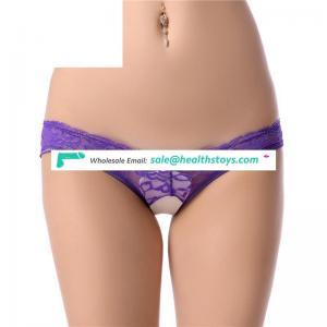 Lace breathable girls underwear  transparent lace briefs