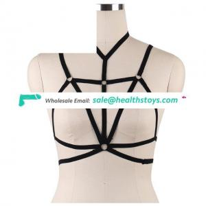 Ladies Choker Elastic Bra Lingerie Bandage Hollow Strappy Bra Cage Crop Top Bustier Tops