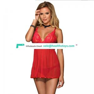Latest Design  Plus Size Wholesale Beautiful Sexy Red  Babydoll Lingerie