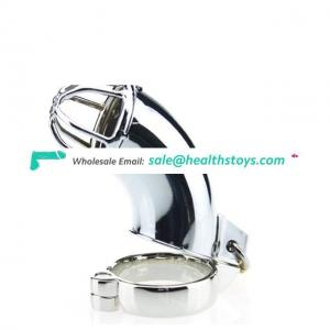 Latest Design Male Chastity Devices Stainless Steel Metal Cage Cock Lock