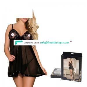 Latest Design Wholesale Elegant  Lace Babydoll With G String