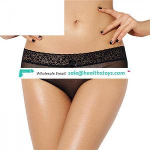 Latest design four size black see-through girl sexy underwear panty