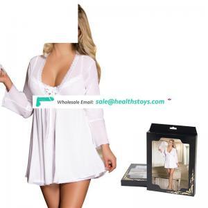 Latest design mature women hot transparent sex nightgown
