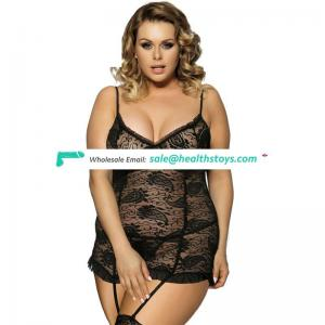 Latest new style fashionable matrue babydoll for fat women plus size lingerie