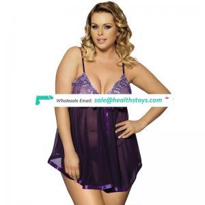 Latex design wholesale hot sale women plus size nighty lingerie underwear clothes sexy babydoll plus size