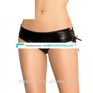 Leather wholesale low MOQ indian girl panty