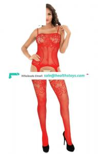 Lingerie For Women Crotchless Fishnet Bodystocking, Stretch Mesh Bodysuit