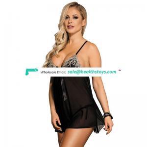 Lingerie Sexy Wholesale Black Elegant Babydoll Sleepwear
