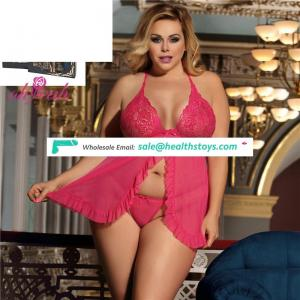 Low MOQ In Stock Two Color Eight Size Nude Mature Women Plus Size Lingerie