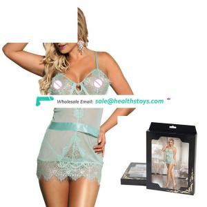 Low MOQ Open Up One Size Lace  Chemise Babydoll