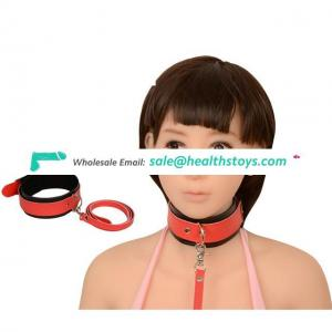 Male Bondage Collar With Leash Novelty Bed Restraints For Man