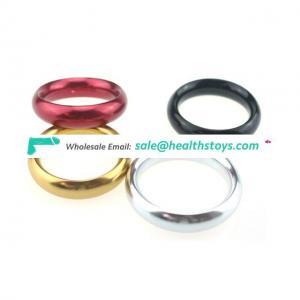 Male Enhancer Aluminum Ring Penis Testicle Delay Device Kit