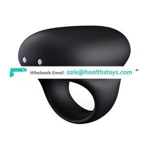 Manufacturer Reasonable Price Silicone Vibrating Safe Cock Ring Waterproof Lock Ring Vibrator