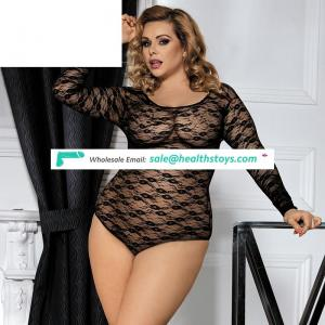 New Arrival Black Lace Transparent Womens Sexy Micro Lingerie Teddy