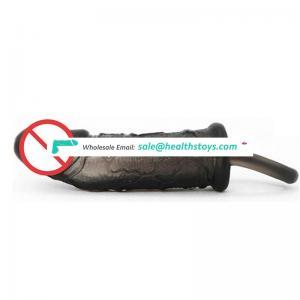 New Design Rubber Black Vibrator Dildo Penis for Female Masturbation Sex Toys