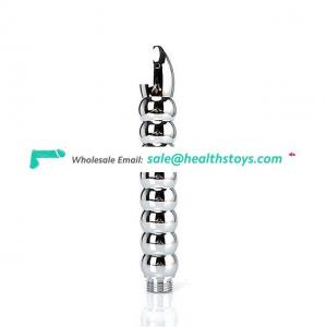 New Metal Enema Anal Cleaning Douche Plug Anal Beads Toys for Women Men