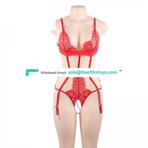 New arrival fashion women red open extreme sexy lingerie teddy