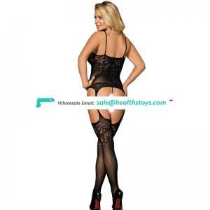 New arrival fashionable black spaghetti straps full sexy mature bodystocking