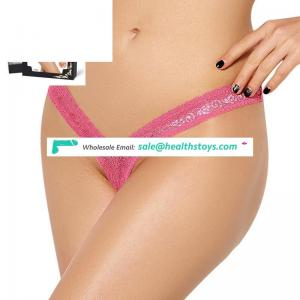 New arrivals pink sexy matures women in c-string thong transparent women