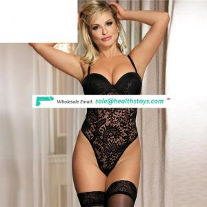 New design Factory price Two color lace ladies teddy lingerie