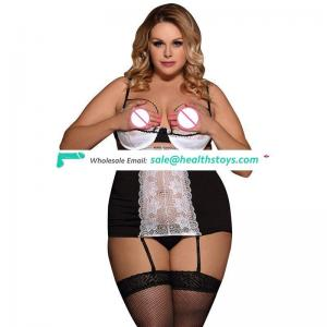 New fashion mature women sexy white transparent chemise lingerie