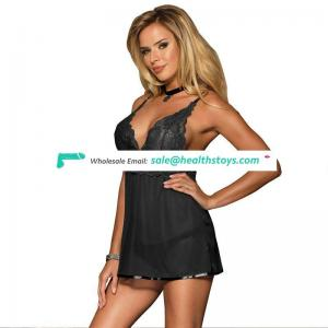 Newest styles comfortable women lace babydoll lingerie