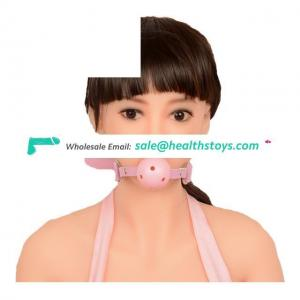 Open Mouth Gag With PU Leather Ball Flirting Adult Toys Bed Restraints