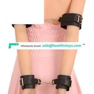 PU Leather Handcuff Bondage Restraints Bed Fetish Slave Bondage Kit Gear Erotic Toys For Sale