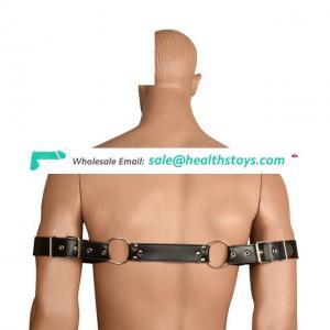 PU Leather Male Hand Cuffs Men Harness Bondage Belt Toys