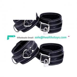 PU Leather Restraints Bondage Cuffs Game Handcuffs Roleplay Costume Tools Toys For Couples