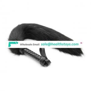 PU leather spanking fox tail whip for cosplay