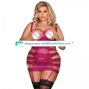 Paypal Accept Wholesale Hot Sexy  Sexy Plus Size Rosey Lace Babydoll Lingerie