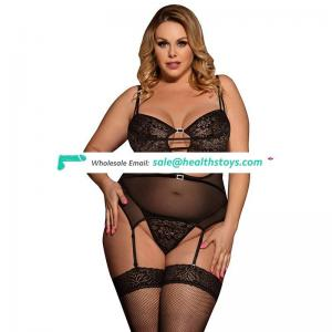 Plus Size Bustier Young Lady Black Sexy Babydoll Lingerie