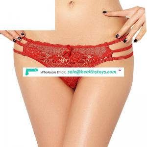Plus Size Four Color Red Transparent Red Sexy Lady Transparent Thong